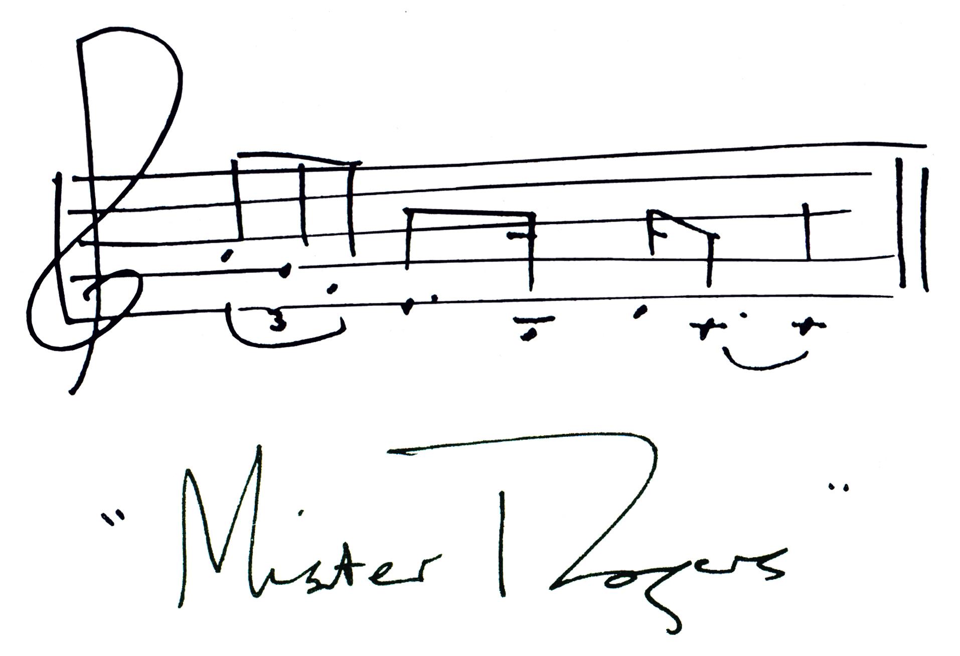 Mister Rogers Signature Mister Rogers Neighborhood